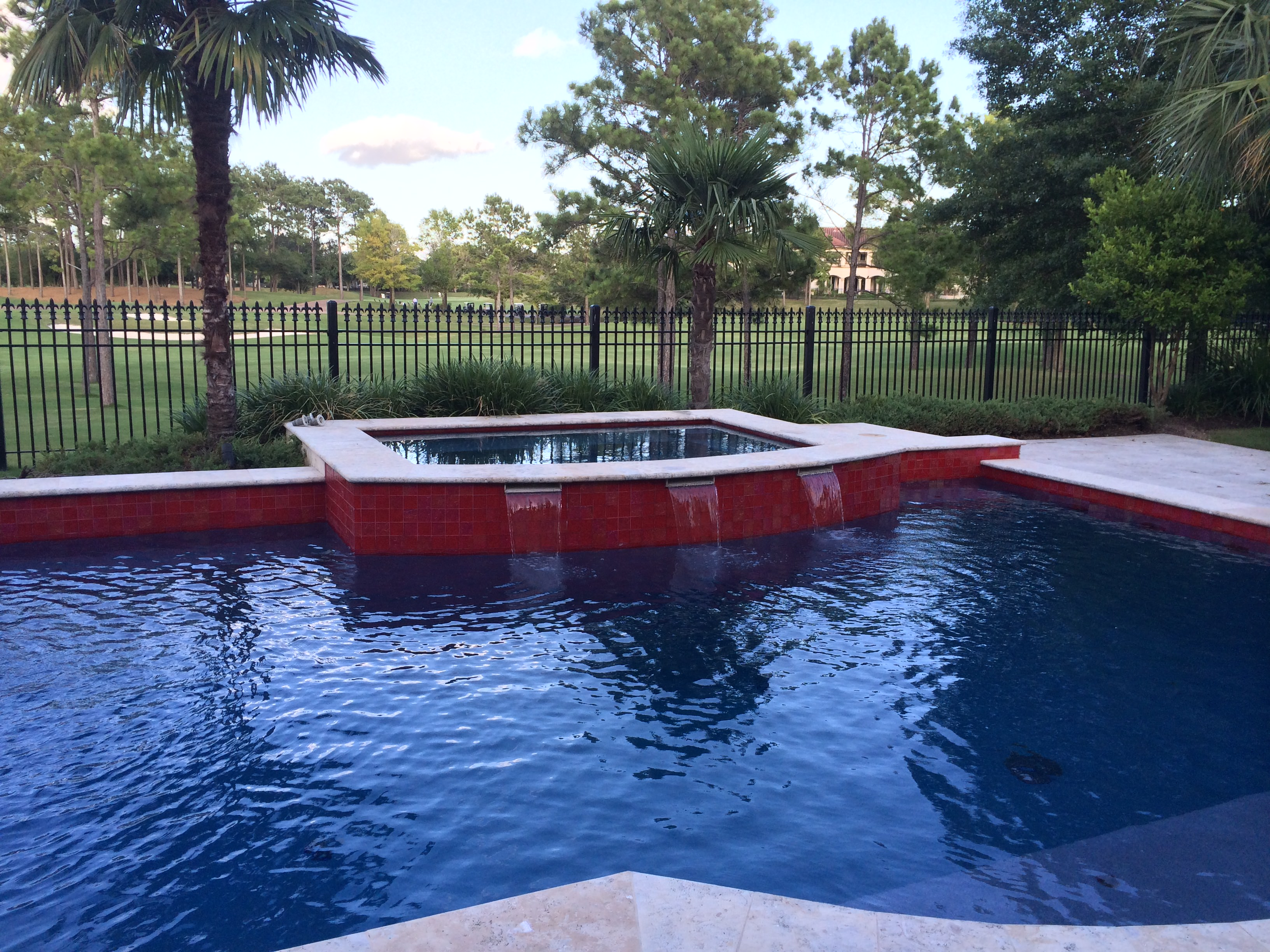 Mediterranean Blue with Red Tile (Vollmer Custom Pools)
